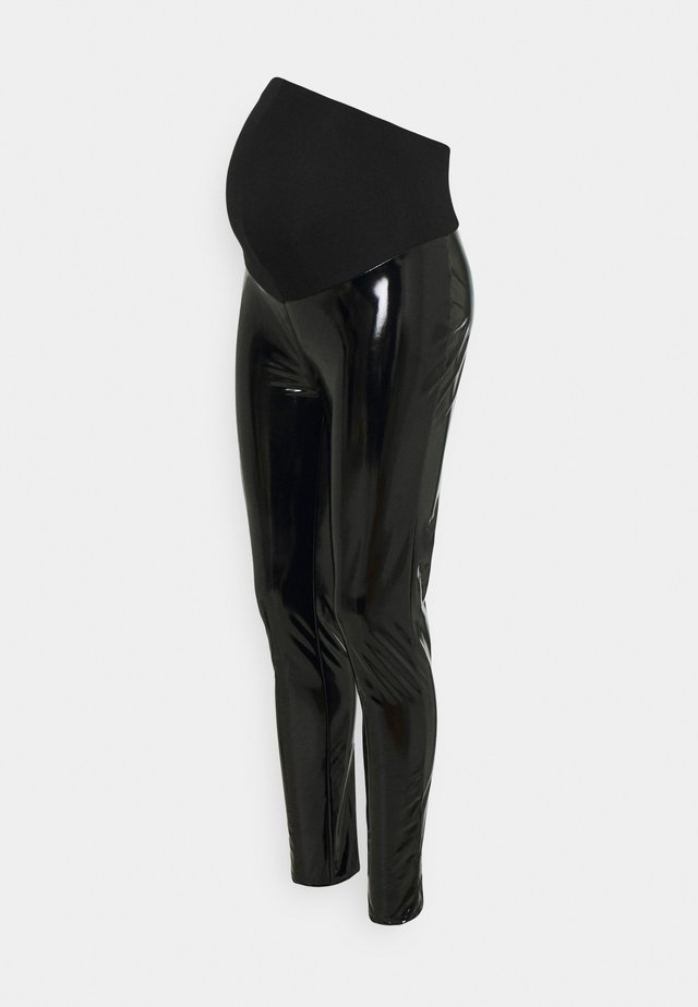 VINYL  - Trousers - black