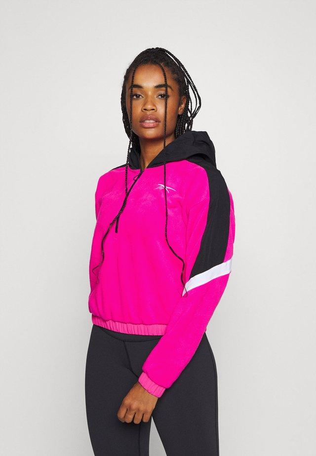 WOR WARMING 1/4 ZIP - Bluza z kapturem - pink