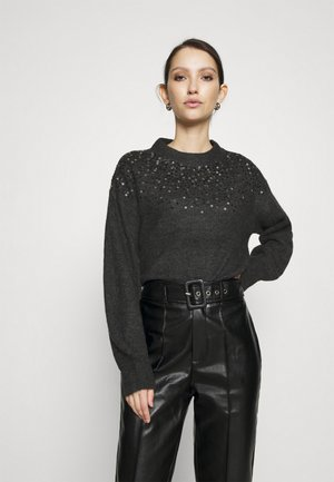 JDYNEWESTSPARKLE - Jumper - dark grey melange