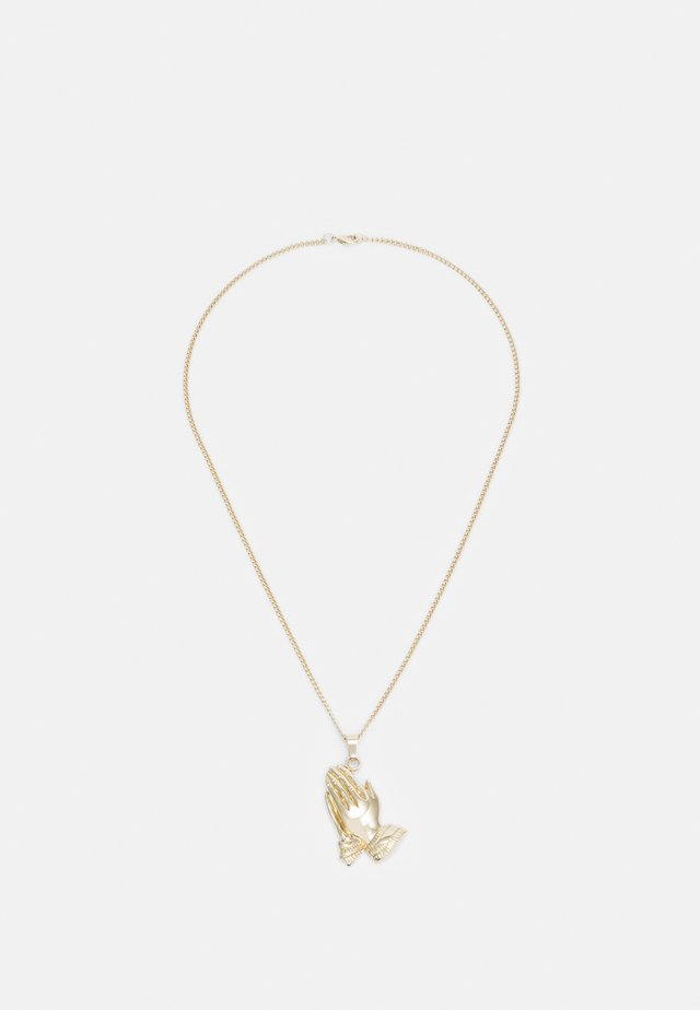 PRAY HANDS NECKLACE - Necklace - gold-coloured