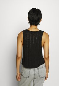 Who What Wear - DOUBLE TIE FRONT - Top - black - 2