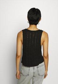 Who What Wear - DOUBLE TIE FRONT - Débardeur - black - 2