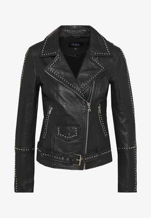 BARBARA - Leather jacket - black