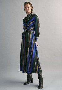 Massimo Dutti - MIT STREIFENPRINT - Day dress - blue - 1