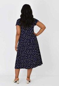 Live Unlimited London - Day dress - dark blue / white - 1