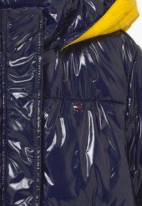 Tommy Hilfiger - HIGH SHINE GLOSSY LONG PUFFER - Winter coat - blue - 4