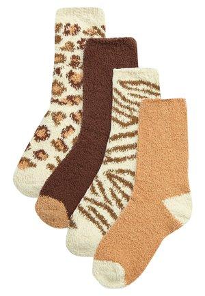 4 PACK - Socks - brown