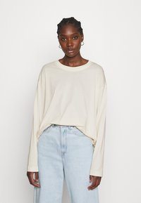 ARKET - JERSEY LONG SLEEVE - Long sleeved top - offwhite - 0