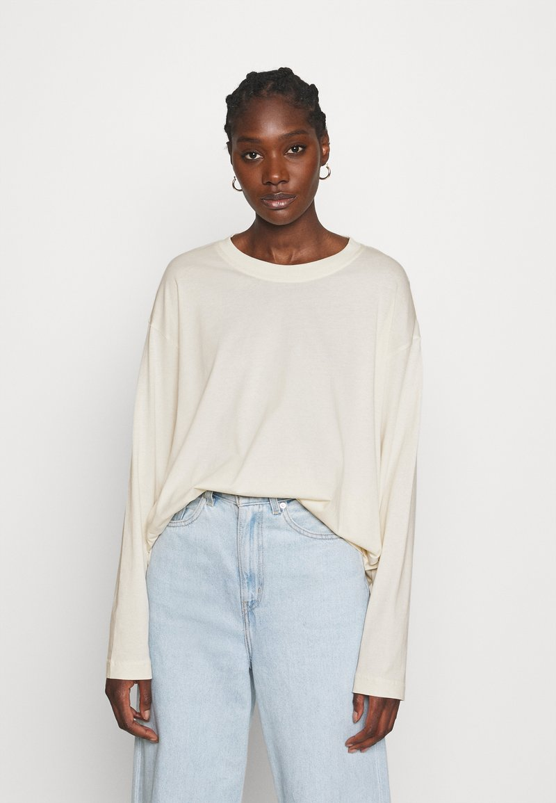 ARKET - JERSEY LONG SLEEVE - Long sleeved top - offwhite