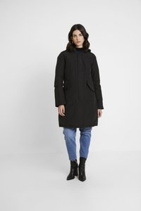 Canadian Classics - FUNDY BAY LONG FAKE FUR - Down coat - black - 3