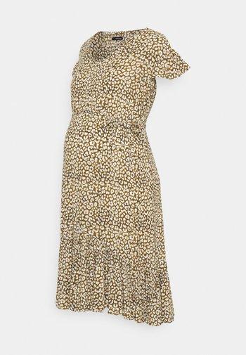 DRESS LEOPARD - Sukienka letnia - dull gold