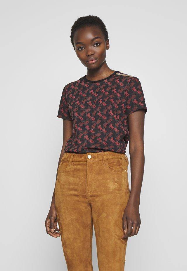 70S  - T-shirt con stampa - black