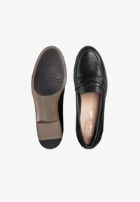 Clarks - Instappers - black leather - 1