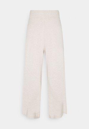 LNMALLORY PANTS - Trousers - pastel parchment melange
