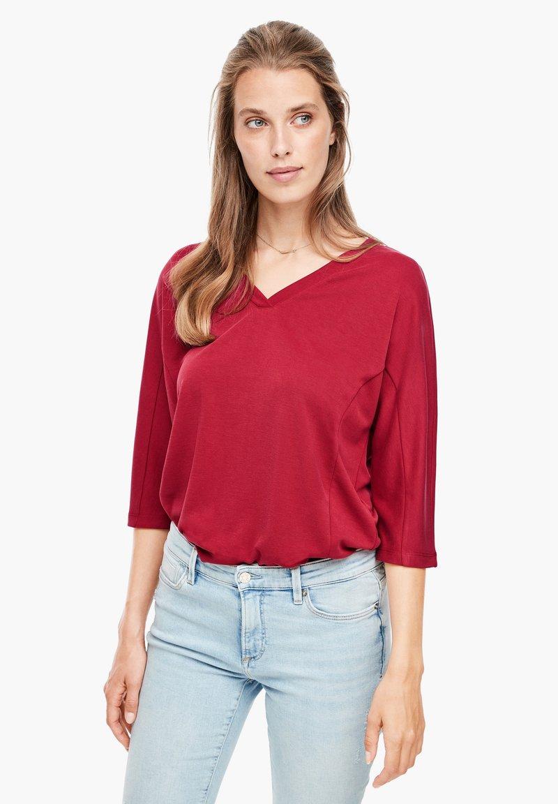 s.Oliver - Long sleeved top - dark red