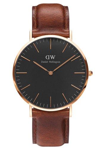 Classic St Mawes 40mm - Watch - braun schwarz
