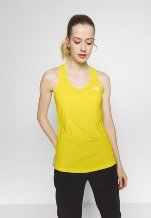 WOMENS FLEX TANK - Sports shirt - lemon