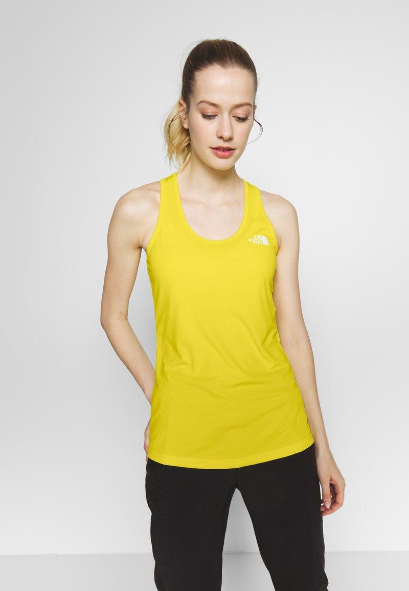 The North Face - WOMENS FLEX TANK - Sports shirt - lemon