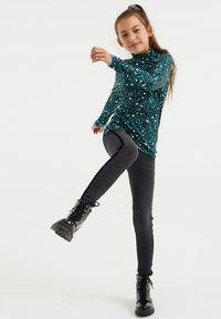 WE Fashion - Top sdlouhým rukávem - mint green - 0