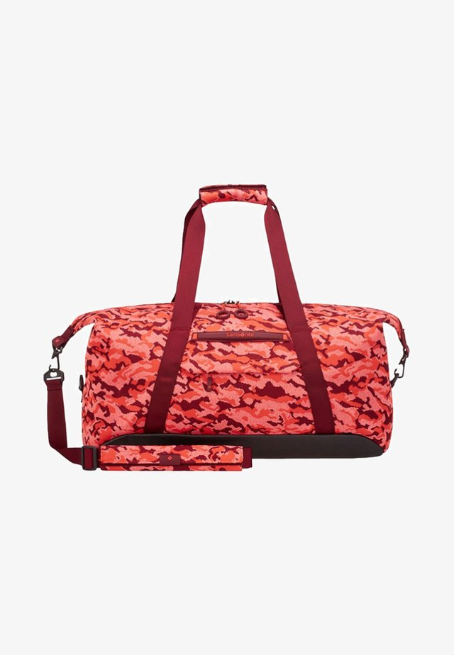 NEOKNIT - Holdall - fluo red camo