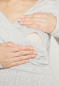 bellybutton - LAILA - Top sdlouhým rukávem - light gray melange/gray - 6