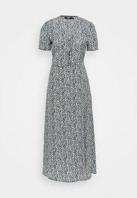 Missguided Tall - HALF BUTTON MIDI DRESS FLORAL - Maxi dress - blue - 0