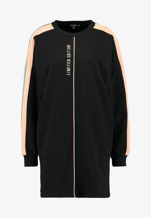 OVERSIZED SWEATER DRESS BLOCK - Sukienka letnia - black
