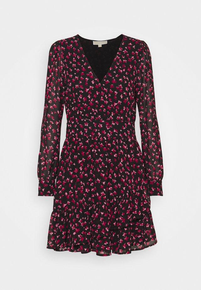FLORAL PRINTED MINI DRESS  - Vestito estivo - berry