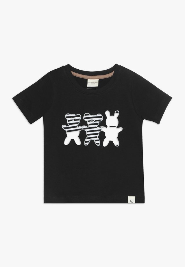 BESTIES APPLIQUE - T-shirt con stampa - black