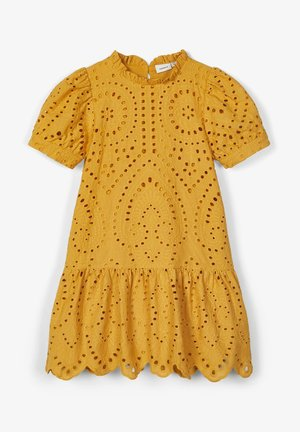 LOCHSTICKEREI - Day dress - amber gold