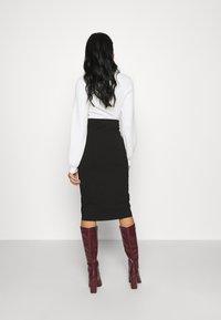Even&Odd - 2 PACK - Pencil skirt - black - 2
