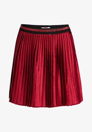 MET GLITTERDETAILS - A-line skirt - vintage red