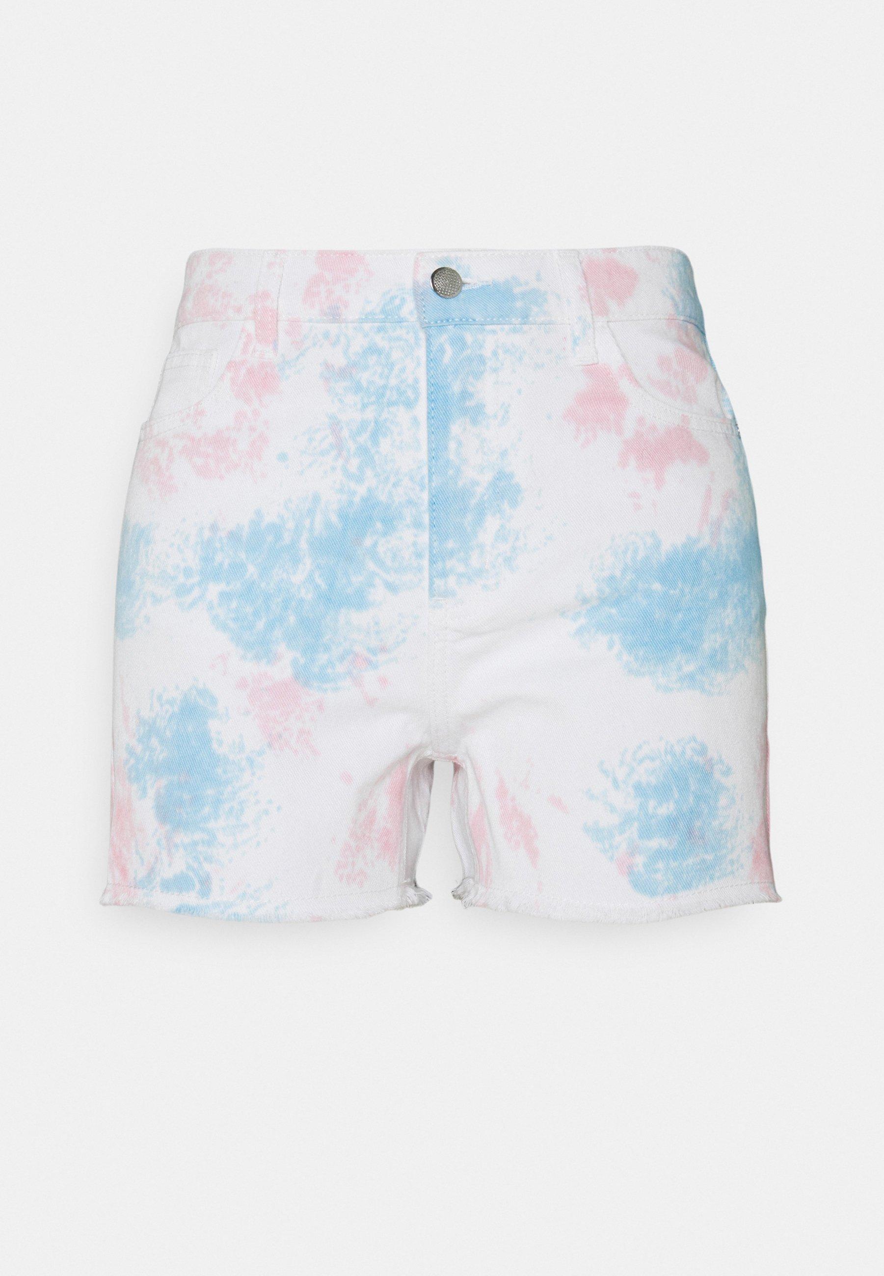 Women ONLEMILY LIFE TIE DYE - Denim shorts