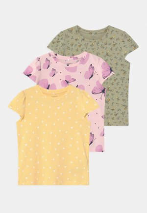 NMFSONYA 3 PACK - T-shirt print - desert sage