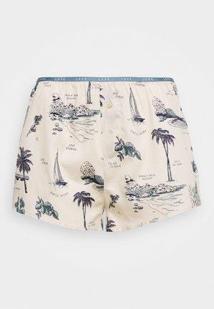 SUNDAY - Pyjamahousut/-shortsit - white/blue