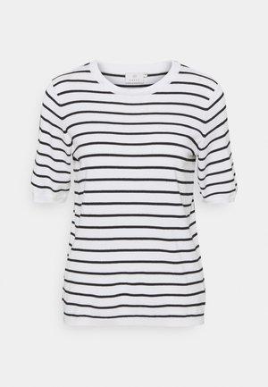 KAMALA - Print T-shirt - chalk/black