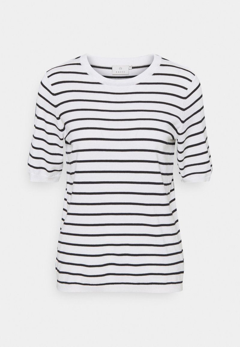 Kaffe - KAMALA - Print T-shirt - chalk/black