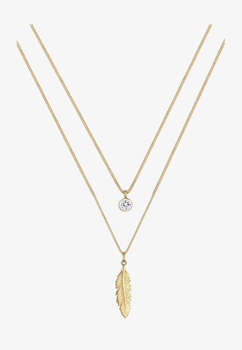 FEATHER - Necklace - gold-coloured