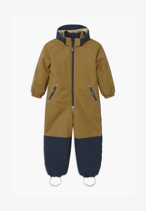 TURVA ICE UNISEX - Snowsuit - cinnamon/navy