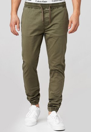 FIELDS - Stoffhose - army