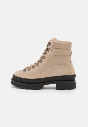 LOGAN  - Platform ankle boots - nude