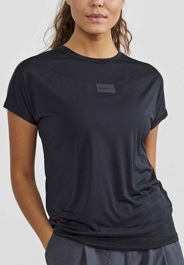 ADV CHARGE TEE - Print T-shirt - black