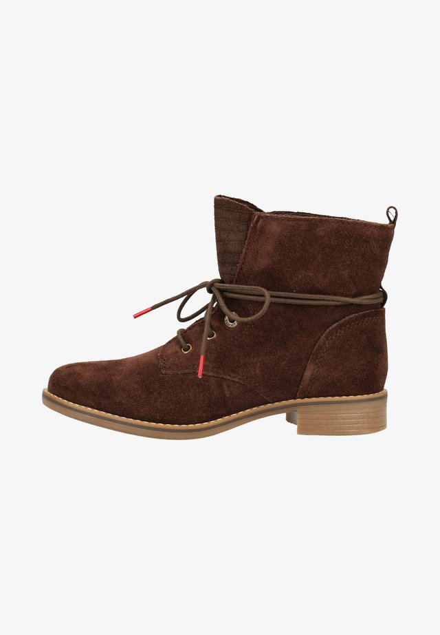 WOMS  - Lace-up ankle boots - mocca 304