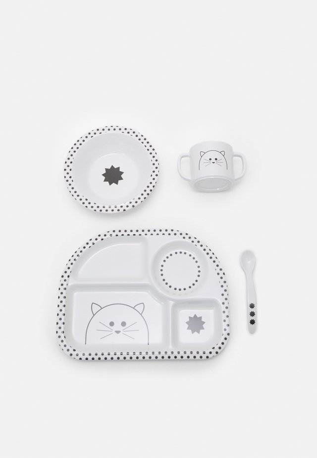 DISH LITTLE CHUMS CAT SET UNISEX - Baby gifts - white/black