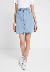 ONLY - ONLFARRAH SKIRT  - A-line skirt - light blue denim - 0