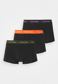 STRETCH LOW RISE TRUNK 3 PACK - Pants - black