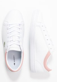 Lacoste - STRAIGHTSET  - Sneakersy niskie - white/light pink - 3