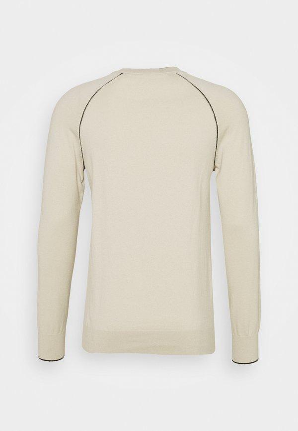 Calvin Klein BLEND SWEATER - Sweter - beige/beżowy Odzież Męska KPZL