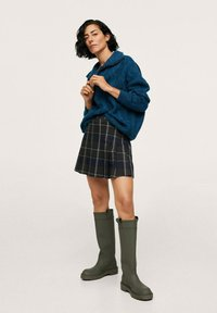 Mango - Pleated skirt - vert - 1