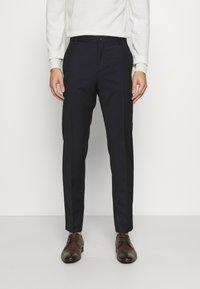 Calvin Klein Tailored - TONAL GRID CHECK EXTRAFINE PANT - Kalhoty - navy - 0